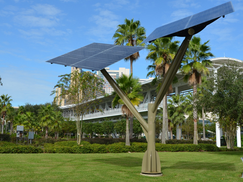 Solar Tree Installation at the Orange County Convention Center