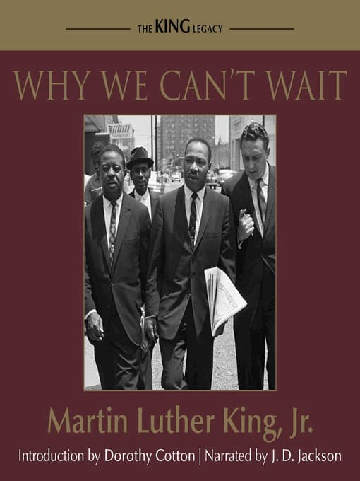 Why We Can't Wait book cover